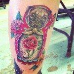 Pug tattoos 20