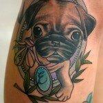 Pug tattoos 28