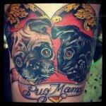 Pug tattoos 29